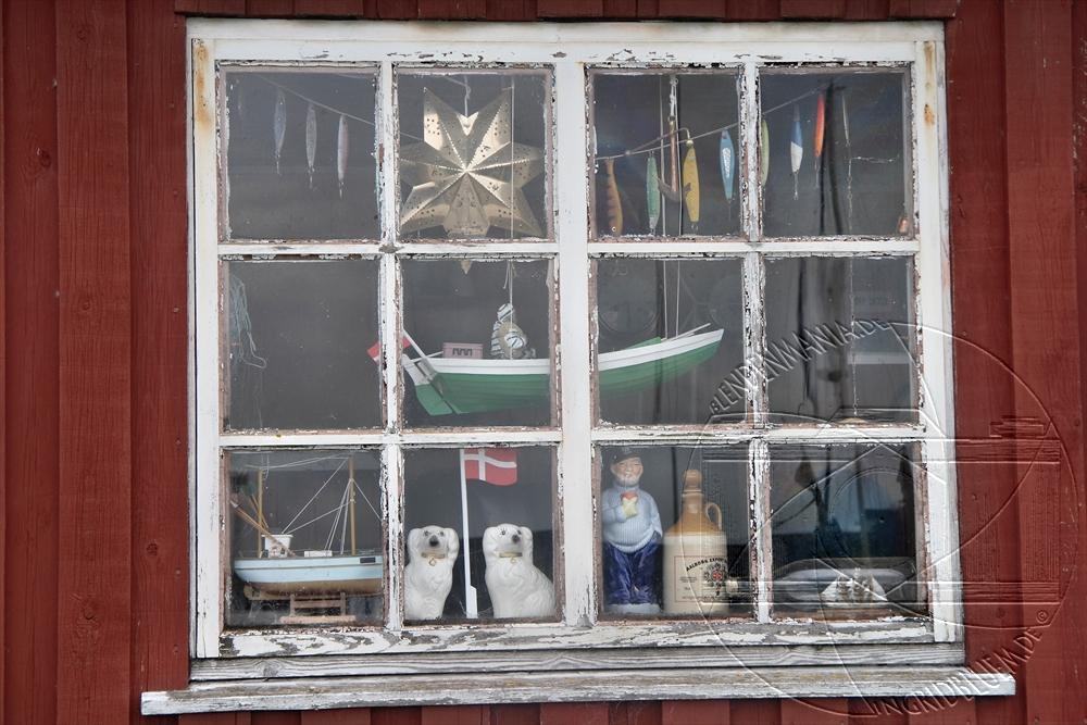 Fenster eines Fischerhauses
